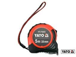 Рулетка YATO 5 м x 25 мм зі сталевою стрічкою і нейлоновим покриттям
