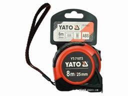 Рулетка YATO 8 м x 25 мм зі сталевою стрічкою і нейлоновим покриттям