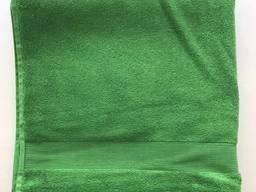 Рушник 70х140 однотонний зелений 4792