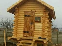 Русская баня, парилка, деревянная со сруба