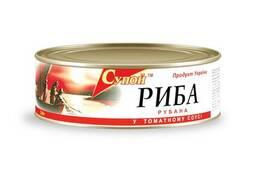 Рыба рубленная в томатном соусе, 240 г
