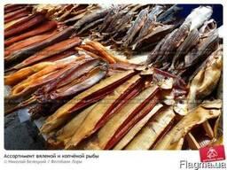 Рыба соленая, копченая, вяленая в ассортименте