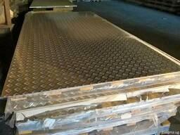 Рыфленый алюминиевый лист АМГ1-5 1-4мм