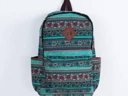 Рюкзак с цветочным принтом Boho patterns бирюзовый. ..