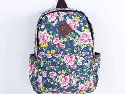 Рюкзак с цветочным принтом Boho patterns темная роза. ..