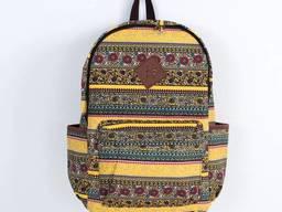 Рюкзак с цветочным принтом Boho patterns желтый. ..