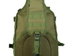 Рюкзак сумка тактическая военная городская Eagle M04B Oxford 600D 20л через плечо Олива