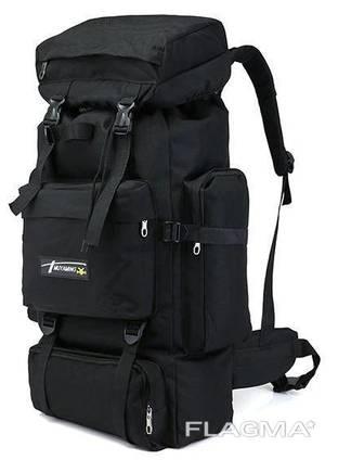 Рюкзак туристический ZX1905 70 л, песочный, черный