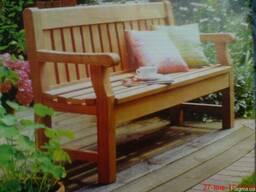Садовая деревянная лавочка классическая