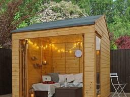 Садовая комната. Домик деревянный садовый гостевой