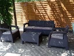 Садовая мебель Keter Corfu Set Max - фото 8