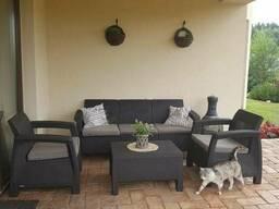 Садовая мебель Corfu Triple Set Allibert, Keter - фото 2