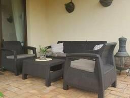 Садовая мебель Corfu Triple Set Allibert, Keter - фото 4
