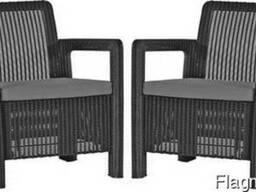 Садовая мебель Tarifa 2x Chairs Allibert, Keter - фото 2