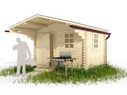 Садовый домик из дерева 3х2. 5м с навесом, брус