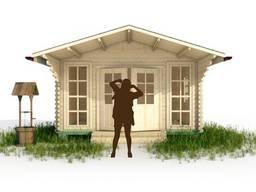 Садовый домик из профилированного бруса 3.8х3.8м