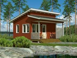 Садовый каркасно-щитовой дом 4х3,4 м с верандой в. ..