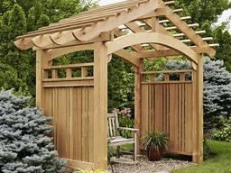 Садовые арки и перголы деревянные под заказ