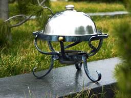 Садж. Подставка под блюда на мангале с подогревом от углей