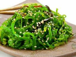 Салат с маринованных водорослей чука вакаме 500грамм