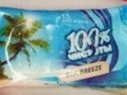 Салфетки влажные 100% чистоты (15шт. )