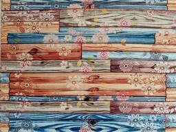 Самоклеящаяся 3D панель обои 700x770x5мм бамбук цветы. .. .