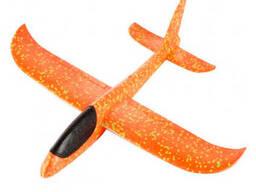 Самолет планер светящийся из пенопласта, 48 см Оранжевый