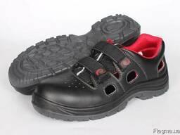Защитные сандалии из гладкой кожи с защитным подноском