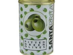 Santarrita оливки без косточки 280гр, сухой вес 90гр