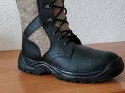 Ботинки кожаные с войлочными вставками для охраны