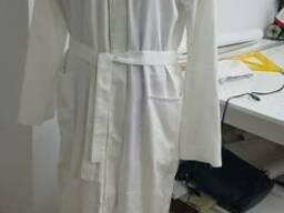 Сатиновый халат кимоно