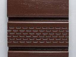 Сайдинг Софит (панель потолочная) виниловый, цвет коричневый