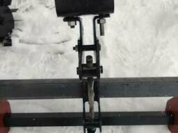 Сцепка двойная с колесами-грунтозацепами с двумя балками