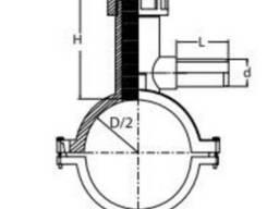 Седловой тройник с фрезой D 40/20 - 355/63 SDR11 ПЕ 100 TEGA - фото 2