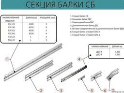 Балка СБ-1 б=4,0 мм оцинкованные и без покрытия