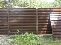 Секция двухсторонняя из штакета металлического 2м*2м
