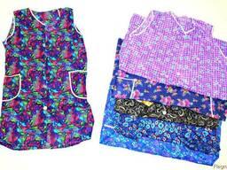 Секонд хенд жіночі нейлонові халати Оптом від 25 кг