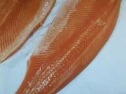 Филе семги, лосося малосольное и сырое
