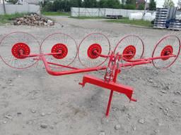 Сеноворошилка на мини трактор 5-ти колёсная (Польша)