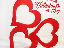 Сердца и амуры, буквы Love к 14 февраля