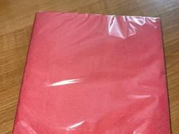 """Серветки паперові 33х33 ТМ """"Sharm"""" червоні"""