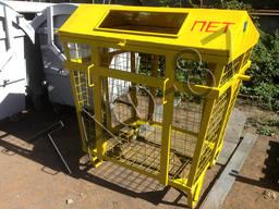 Евроконтейнер для сбора ПЭТ, мусорный бак для пластика