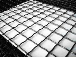 Сетка канилированная черная яч. 25x25, d 2.6мм, лист 1х2м