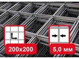 Сетка кладочная, ячейка- 200х200мм ГОСТ, размер карты-1х2м