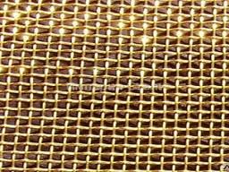 Сетка тканная латунная недорого