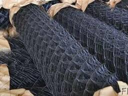 Сетка плетёная рабица черная и оцинкованная по лучшей цене!
