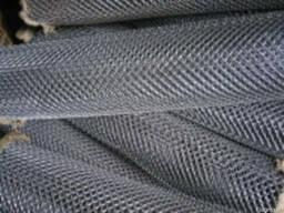 Сетка Рабица 15х15 и 10х10 черная и оцинк высотой 1 м