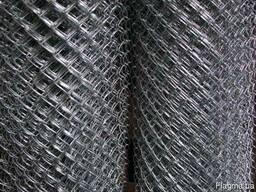 Сетка рабица оцинк. Ячейка 35х35; Диам. 1, 6мм; Высота 1, 2м
