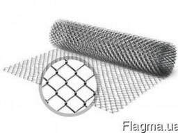 Сетка рабица оцинкованная, размер ячейки 35х35мм, ф 1,6 мм