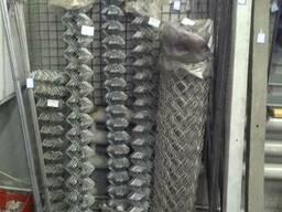 Сетка рабица плетеная рулонами с цинковым покрытием